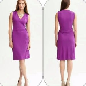 banana republic | fuchsia wrap dress sz S